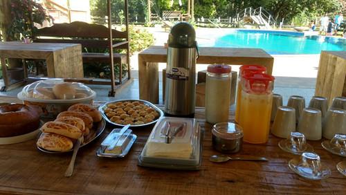 Delícias do café da manhã na pousada