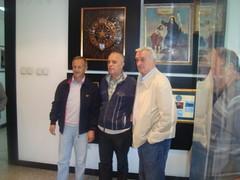Miodrag Radomirovic sa  Nikicom Klincarskim i Milosem Milutinovicem