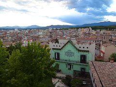 Girona backyards from the Walls Walk