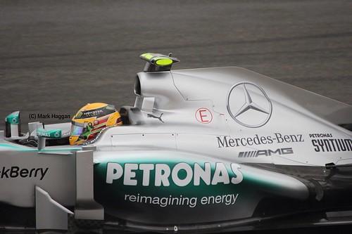 Lewis Hamilton in Free Practice 2 at the 2013 British Grand Prix
