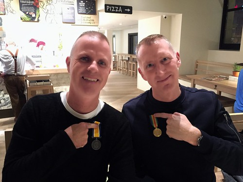 Today is all about...John & Loz getting their medals for surviving a holiday with the Dalgarno-Holt's