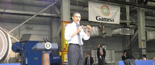 Barack Obama visita la planta de Gamesa en Pen...