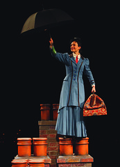 Kelly McCormick (Mary Poppins) in Mary Poppins, produced by Music Circus at the Wells Fargo Pavilion July 8 - 13, 2014. Photos by Charr Crail.