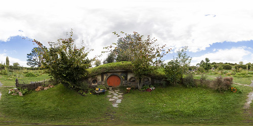 Hobbiton Movie Set Panorama