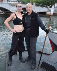 Liz Knights fire dancer & Chris Maino boat captain
