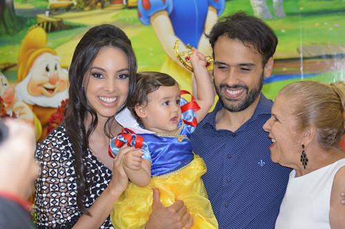 Ana Paula, Helena e João Paulo com vovó Walia Rolim