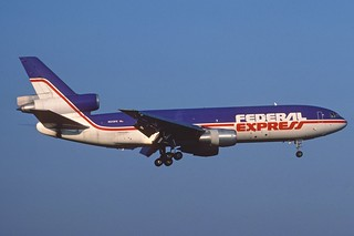 Federal Express DC-10-30F; N313FE, April 1990&...