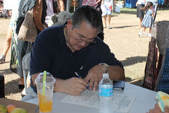 Governor Joseph F. Ada Registering