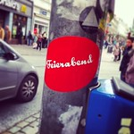 Feierabend #luebeck #city #germany #street-art #traffic #street #sticker #advert