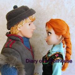 Anna and Kristoff Frozen Dolls