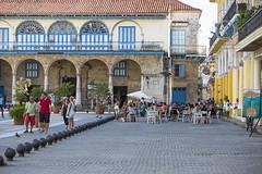 Plaza Vieja in Havana, Cuba.