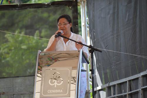 Darcira Pereira, prefeita de Açucena, agradece a iniciativa da Cenibra