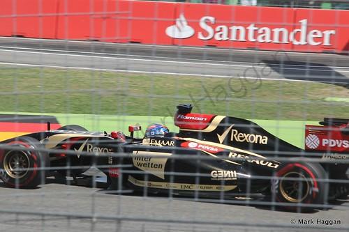 Romain Grosjean in qualifying for the 2014 German Grand Prix