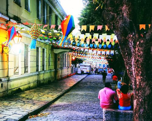 Centro histórico enfeitado para a festa de São João   São Luís, Maranhão - Brasil
