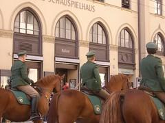 """Der Reiter. Die berittene Polizei. • <a style=""""font-size:0.8em;"""" href=""""http://www.flickr.com/photos/42554185@N00/14740288122/"""" target=""""_blank"""">View on Flickr</a>"""