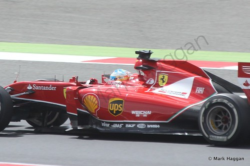 Fernando Alonso during The 2014 British Grand Prix