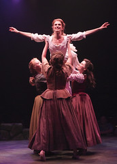 (Top to Bottom) Courtney Iventosch (Jean MacLaren) and cast of Brigadoon, produced by Music Circus at the Wells Fargo Pavilion August 5-10, 2014. Photos by Charr Crail.