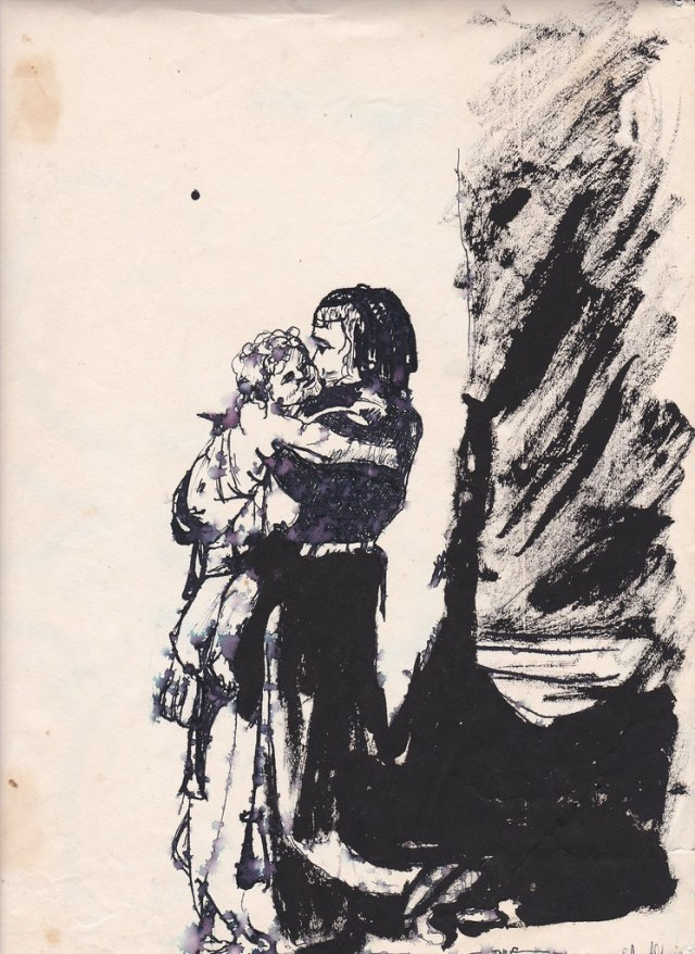 Copy of Rembrandt's Saskia With Her Child by Leland Green... age 14