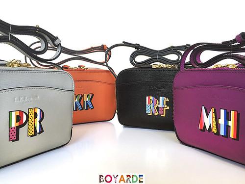 LK Bennet x Boyarde hand painted Mariel bags, 2016