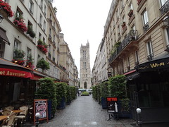 Saint-Jacques Tower - flamboyant gothic - all that remains of the former 16th C  Church