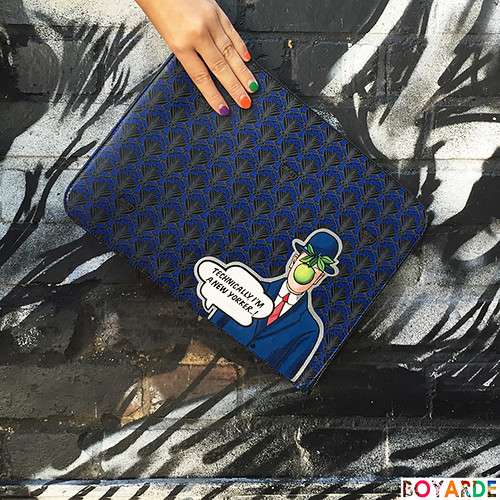 Liberty magritte oversized pouch x Boyarde