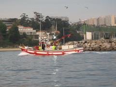 Bateau de pêche à Coruna