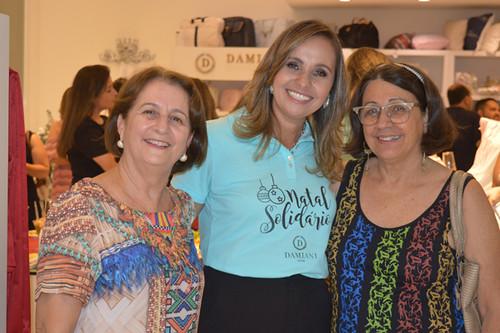 Karina com Ione Finocchio e Jane Linhares