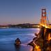 "Golden Gate Bridge at dusk • <a style=""font-size:0.8em;"" href=""http://www.flickr.com/photos/41711332@N00/15528808452/"" target=""_blank"">View on Flickr</a>"