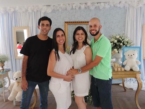 Didiane com o irmão, Juninho, Gerlaine e Rudney