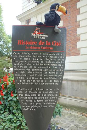 En visite au château de Soubiran (on vous laisse lire les explications)
