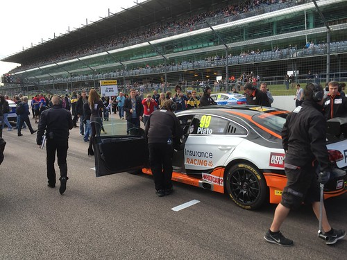 Jason Plato's car on the BTCC grid at Rockingham