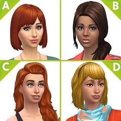 les sims 4 en cuisine coiffures