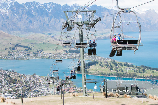 Luge gondola at Skyline Queenstown