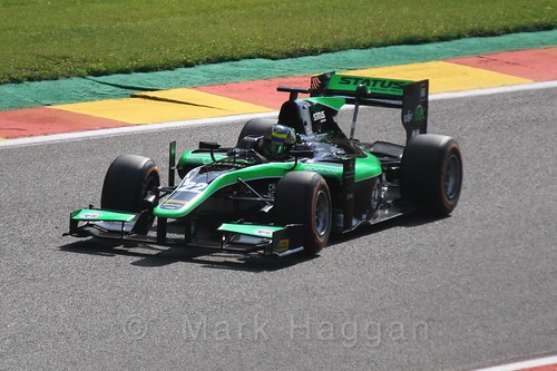Marlon Stöckinger in GP2 Qualifying at the 2015 Belgium Grand Prix