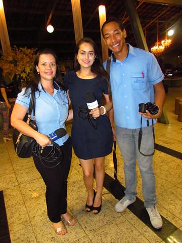 Da equipe do Portal DA e TV Cultura, Poliane Torres, Tamires e Wesley Rodrigues,