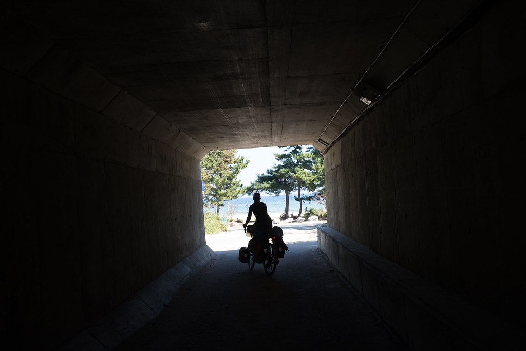 Bike path tunnel