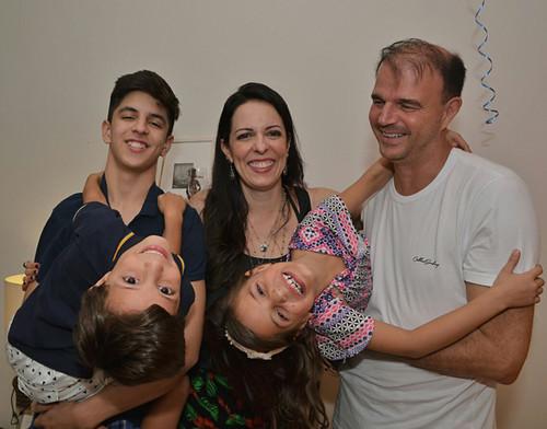 A família da aniversariante em festa!