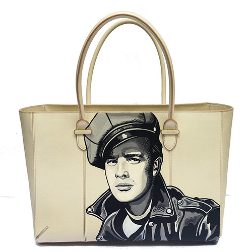 Charlotte Olympia hand painted Marlin Brando Bag
