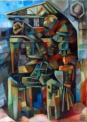 Ouverture II, olio su tela, 50×70, 2006