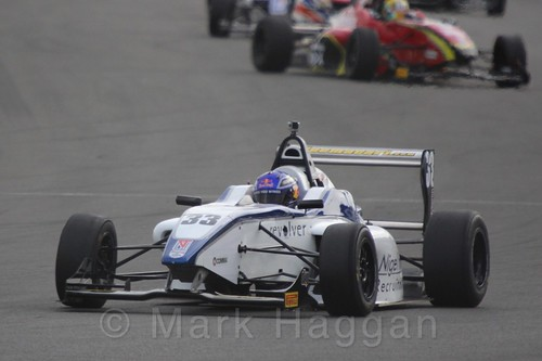Hari Newey in BRDC F4 Race Two at Donington Park, September 2015