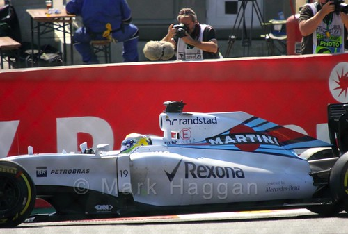 Felipe Massa in Free Practice 3 for the 2015 Belgium Grand Prix