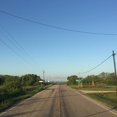 The Road Ahead. Day 155. Farm Road 616 in Vanderbilt, TX. Had a great night sleep and a spigot shower behind a church last night, then a good breakfast this morning, ready for the 21 empty miles to the next town. #TheWorldWalk #travel #texas #wwtheroadahe