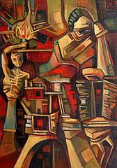Mente illuminata, olio su tela, 35×50, 2006