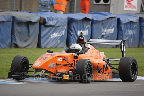 Jack Lang in BRDC F4 at Donington Park, September 2015