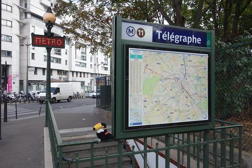 Lendemain matin, direction l'école Télégraphe en métro !