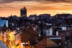Bruxelles - Vue du pont Av de la Couronne