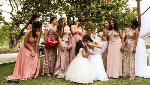 A noiva e suas madrinhas