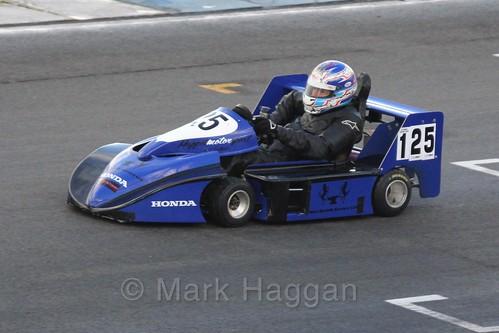 John Faulkner in his Anderson Honda in Superkart racing during the BRSCC Winter Raceday, Donington, 7th November 2015