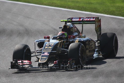 Pastor Maldonado in Free Practice 3 at the 2015 Belgian Grand Prix