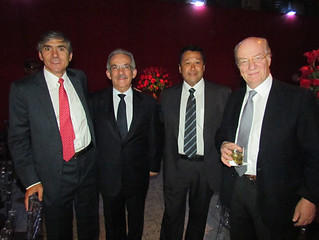 Julian Eguren, presidente da Usiminas, Eduardo Lery, Carlos Roberto Katayama e Paolo Rocca, presidente das Organizações Techint
